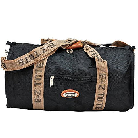 """E-Z Tote"" Sports Duffel Bag/All Purpose Duffel Bag Size 18""/24"" In 2 Colors (18"", Black)"