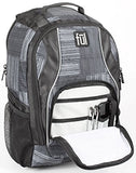 FUL Dax Padded Laptop Backpack, Fits Up to 15in Laptops, Black/Gray