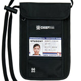 Travel Wallet-Passport Holder-Anti-Theft-Neck Pouch-RFID Blocking-For Men and Women