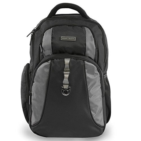 Perry Ellis P14 Laptop Business Backpack, Black, One Size