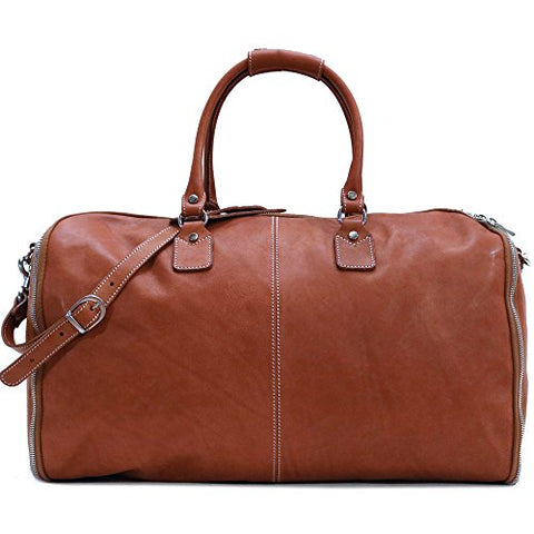 Convertible Full Grain Leather Garment Duffle Bag - Floto Parma Edition