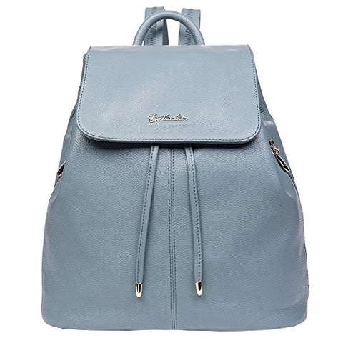 Bostanten Women'S Leather Backpack Purse Travel School Bag Casual Mini Daypack Newblue