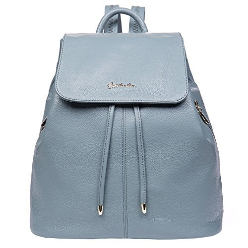 fbe7c2794c Bostanten Women S Leather Backpack Purse Travel School Bag Casual Mini  Daypack Newblue