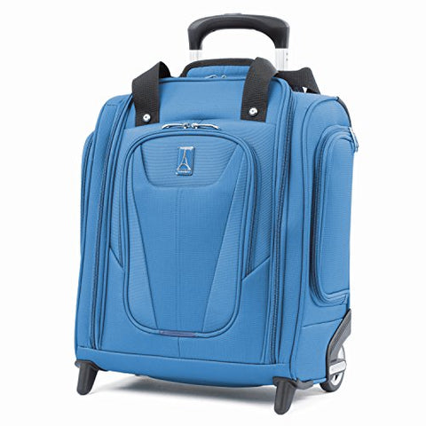 "Travelpro Luggage Maxlite 5 15"" Lightweight Carry-On Rolling Under Seat Bag, Azure Blue"