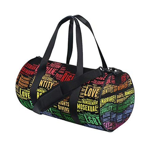 OuLian Gym Bag Eliminating HBT Bullying Women Canvas Duffel Bag Cute Sports Bag for Girls