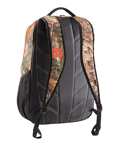 f93985709b69 Under Armour Camo Hustle Backpack, Realtree Ap-Xtra/Dynamite, One Size