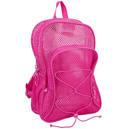 Eastsport Mesh Backpack With Bungee, Pink