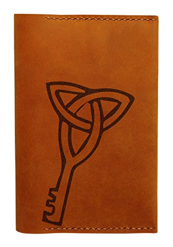 Key Pattern Handmade Genuine Leather Passport Holder Case Hlt_01