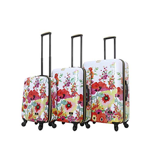 HALINA Collier Campbell Secret Garden 3 Piece Set Luggage, Multicolor
