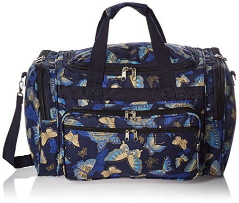 World Traveler Women'S Value Series Blue Moon 19-Inch Duffel Bag, Gold Butterfly, One Size