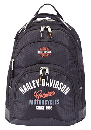 Harley-Davidson Tail of The Dragon Steel Wire Handle Backpack, Black 99220 BLK