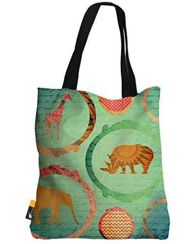 Boho Tote Bag - Green Bohemian Africa Art Design Summer Beach Bag | Ubu Republic