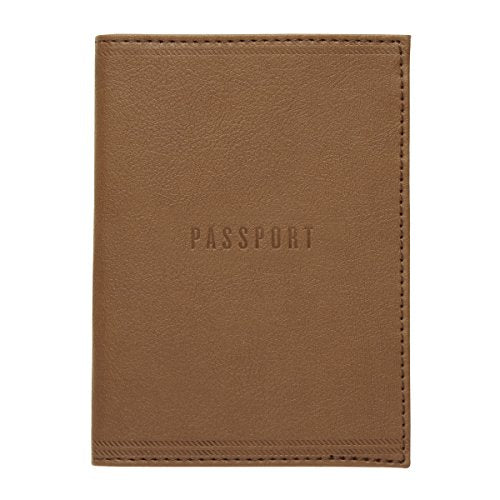 C.R. Gibson Passport Cover, Brown Leatherette