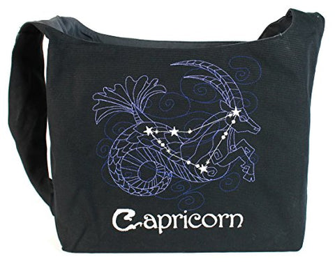 Dancing Participle Capricorn Embroidered Sling Bag