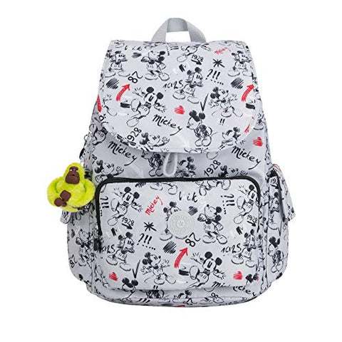 Kipling Disney's Minnie Mouse And Mickey Mouse City Pack Backpack Sketch Grey
