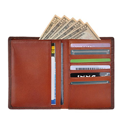 Zlyc Genuine Leather Travel Passport Holder Wallet Purse Case Card Cover