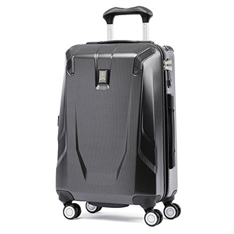 "Travelpro Luggage Crew 11 21"" Carry-on Slim Hardside Spinner w/USB Port, Carbon Grey"