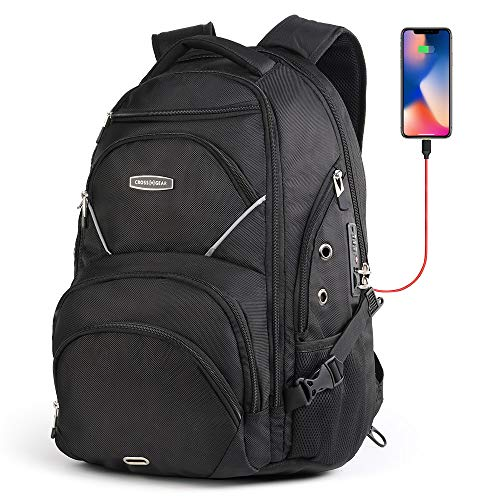 Cross Gear Laptop Backpack with Combination Lock- Fits Most 17.3 Inch Laptops and Tablets CR-9735I