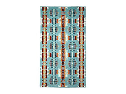 Pendleton Over-Sized Cotton Beach Towel, Chief Joseph Aqua