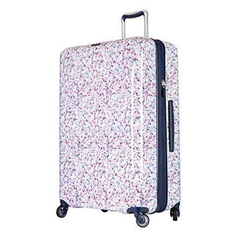Ricardo Beverly Hills Beaumont 28-inch Check-In Suitcase (White Sparkling Geode Print)