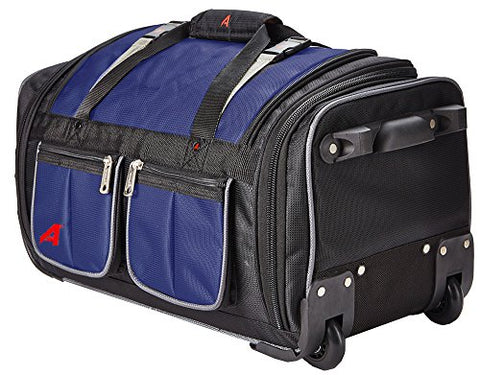 "Athalon 34"" 15 Pocket Duffel Navy Rolling, One Size"