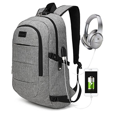 Gashen Packable Laptop Backpack Anti-Theft daypack with USB Charging Port and Password Lock