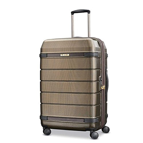 Hartmann Medium Journey Expandable Spinner, Bronze Monogram/Espresso