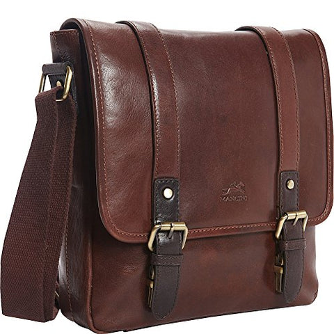 Mancini Leather Goods RFID Secure Tablet Bag (Brown)