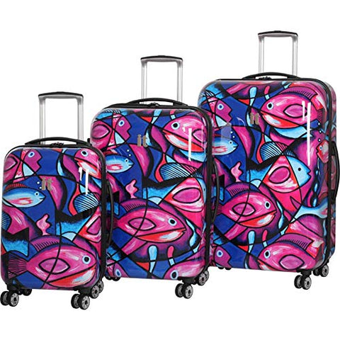 "it luggage Virtuoso Hardside 3 Piece ""Print"" Luggage Set, Owls"