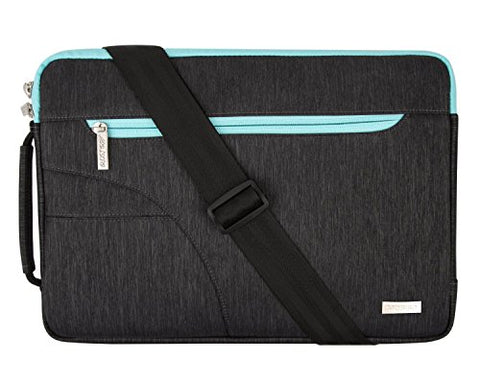 MOSISO Polyester Fabric Sleeve Case Cover Laptop Shoulder Briefcase Bag Compatible 13-13.3 Inch