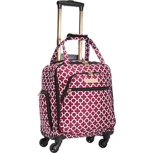 "Aria Broadway 15"" Spinner Tote Cranberry"