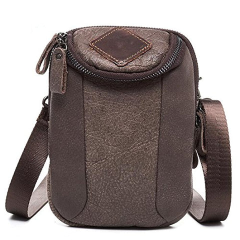 Sealinf Men'S Leather Shoulder Crossbody Purse Cellphone Pouch Saddlebag Wallet (Pattern 4)