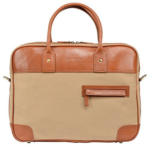 "Banuce 14"" Laptop Messenger Bag for Men Canvas Leather Business Tote Tablet Shoulder Satchel"