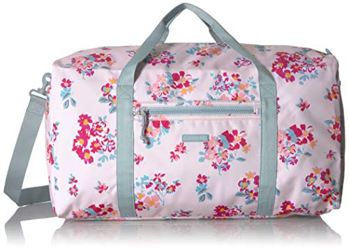 Vera Bradley Lighten Up Large Travel Duffel, Tossed Posies Pink, P