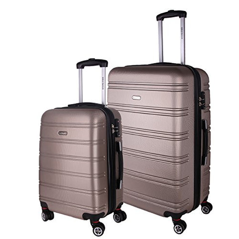 World Traveler Bristol Ii Hardside 2-Piece Spinner Luggage Set, Champagne