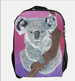 Koala Bear Backpack - From My Original Painting, Home Range