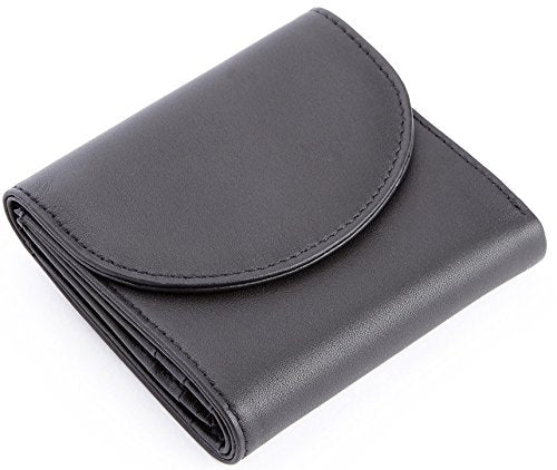Royce Leather Women'S Rfid Blocking Compact Trifold Wallet In Leather, Black