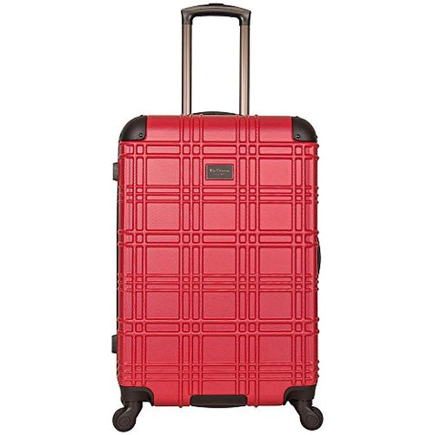 "Ben Sherman Nottingham 24"" Embossed PAP 4-Wheel Upright Luggage in Red"