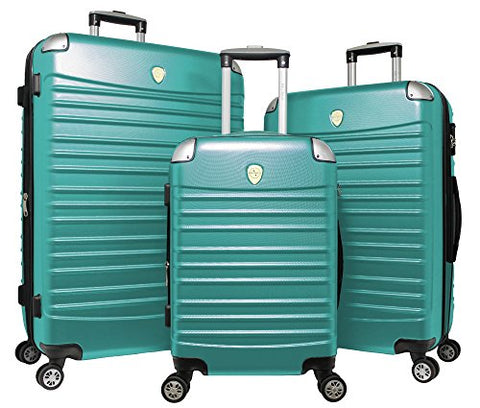 World Traveler Expedition 3-Piece Hardside Spinner Luggage Set, Green