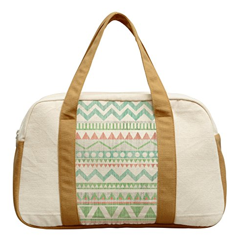 Women'S Pastel Actez Pattern-1 Printed Canvas Duffel Travel Bags Was_19