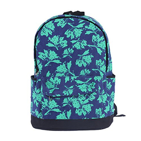 Damara Womens Maple Leaf Printed Canvas Weekender Shoulders Bag,Green