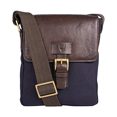 Hidesign Bedouin Canvas and Leather Cross Body, Blue