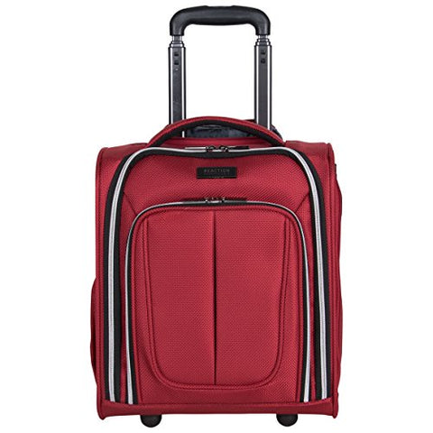 "Kenneth Cole Reaction Lincoln Square 16"" 1680d Polyester 2-Wheel Underseater Carry-on, Red"