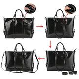 "S-Zone Women'S 3-Way Genuine Leather Work Tote Laptop Shoulder Handbag Messenger Bag Fit 14"" Laptop"