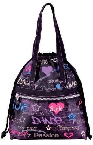 Dansbagz Attitude Drawstring Bag One Size Black