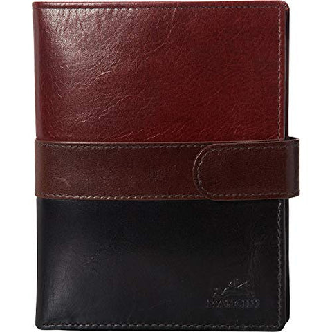 Mancini Men's Leather Nevada RFID Secure Passport Travel Wallet Multi