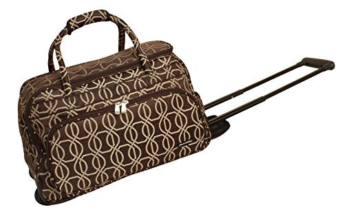 Jenni Chan Links Deluxe Carry-All Rolling Duffel, Brown, One Size