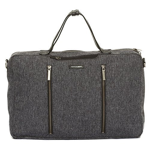 Hook and Albert Melange Fabric 3-Way Carryall, Grey (Grey)