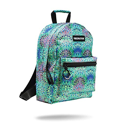 Vibedration Mini Backpack | Casual Lightweight Daypack Purse for Women, Girls, Boys, Men | Festival Fashion, Rave & Travel Accessories (Boho Forest)