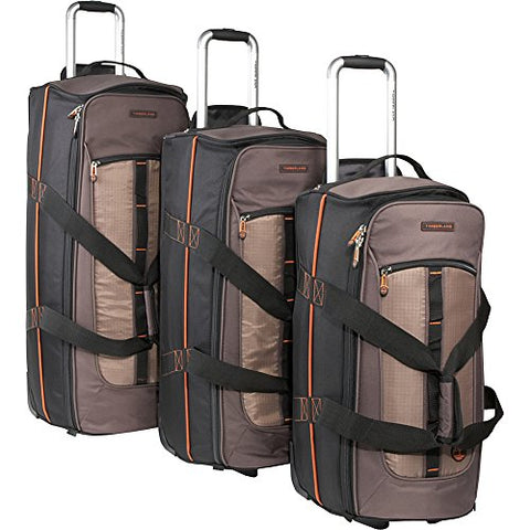 Timberland Luggage Jay Peak 3 Piece Duffle Set, Cocoa, One Size